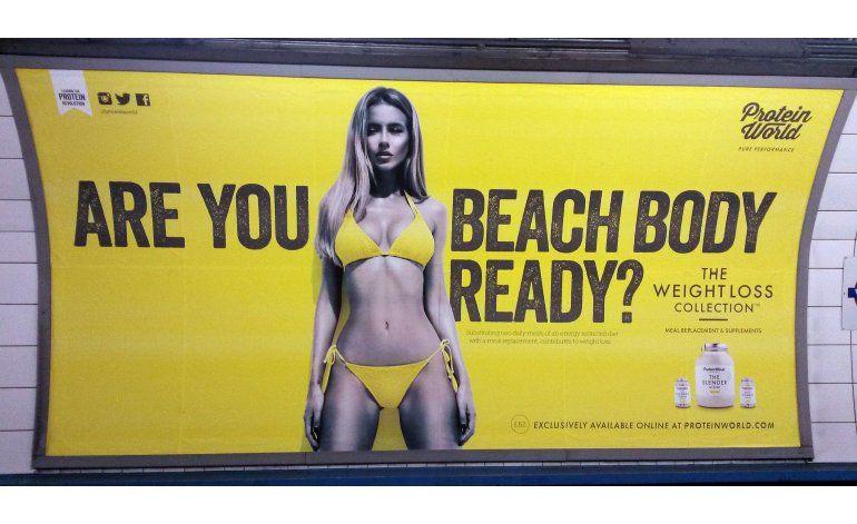 Vetarán anuncios en Londres con imágenes poco saludables