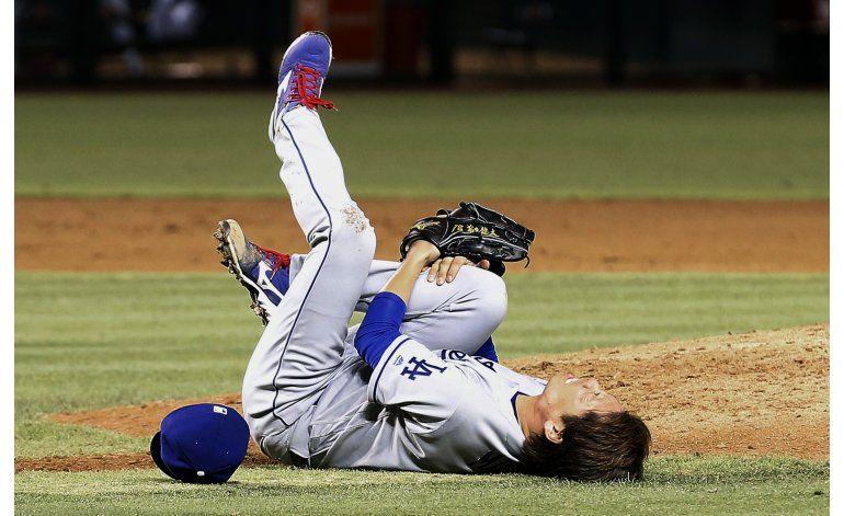 Dodgers ganan a Arizona pese a la lesión de Maeda