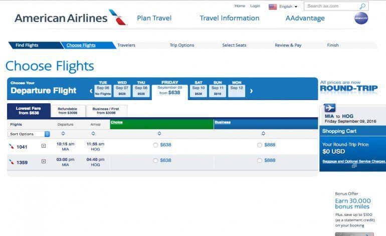 American Airlines vende pasajes hacia la Isla mientras espera autorización oficial de La Habana