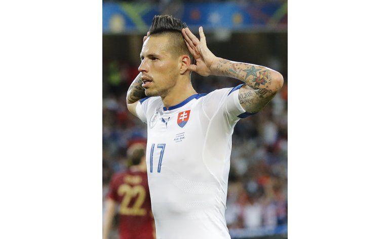 Euro: Hamzik impulsa a Eslovaquia al vencer 2-1 a Rusia