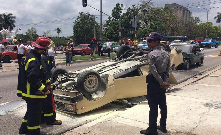 Impactantes imágenes de accidente automovilístico en La Habana, Cuba