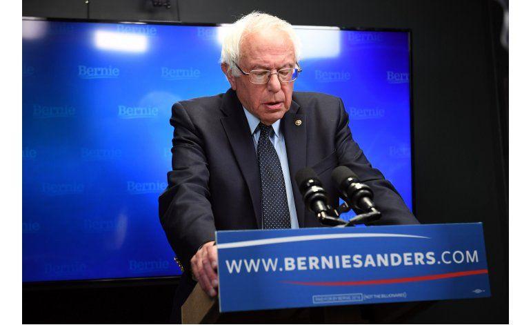 Sanders dice que la prioridad es derrotar a Trump