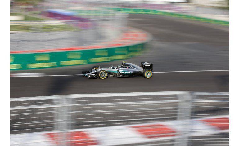 Nico Rosberg gana el GP de Europa; mexicano Pérez llega 3ro