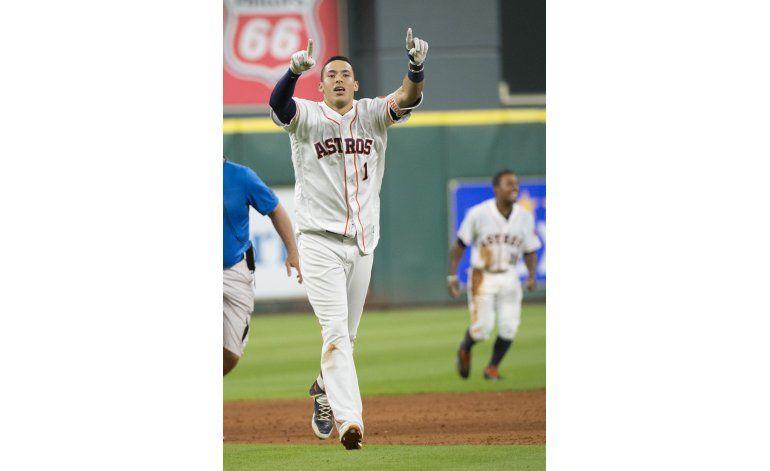 Astros superan a Angelinos con sencillo de Correa