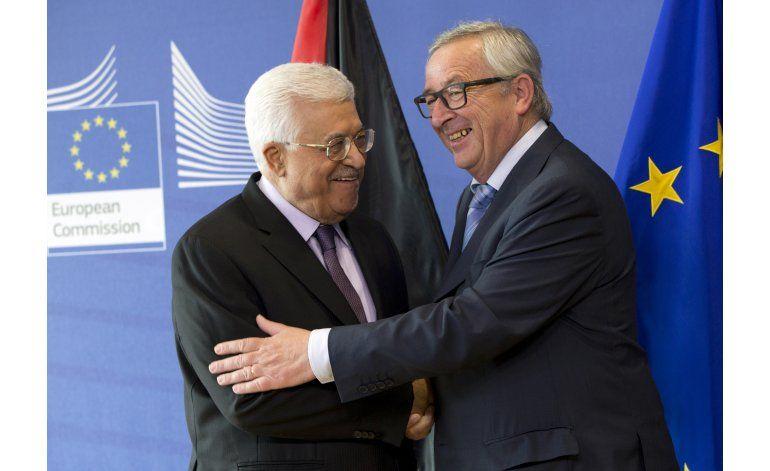 Líder palestino pide ayuda a UE para poner fin a ocupación
