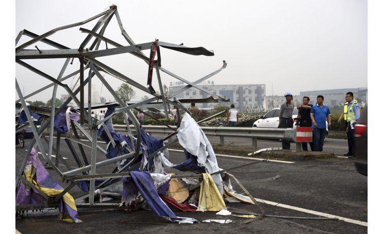 Tornado azota ciudad del este de China; hay 78 muertos