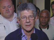 presidente de la asamblea nacional de venezuela, henry ramos allup, esta de visita en miami