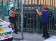 arrestan a mujer hispana por enfrentarse a policias de miami dade en las afueras de la corte criminal del condado