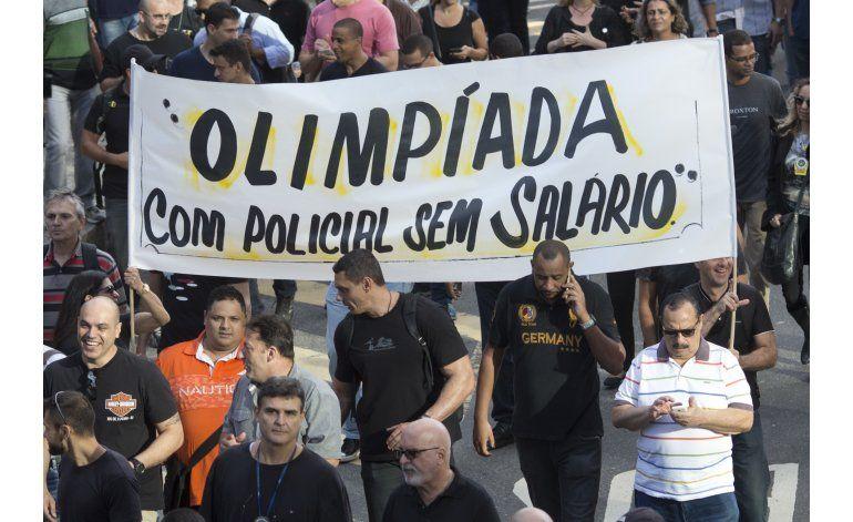 Policía de Río pide donaciones, de cara a las Olimpíadas