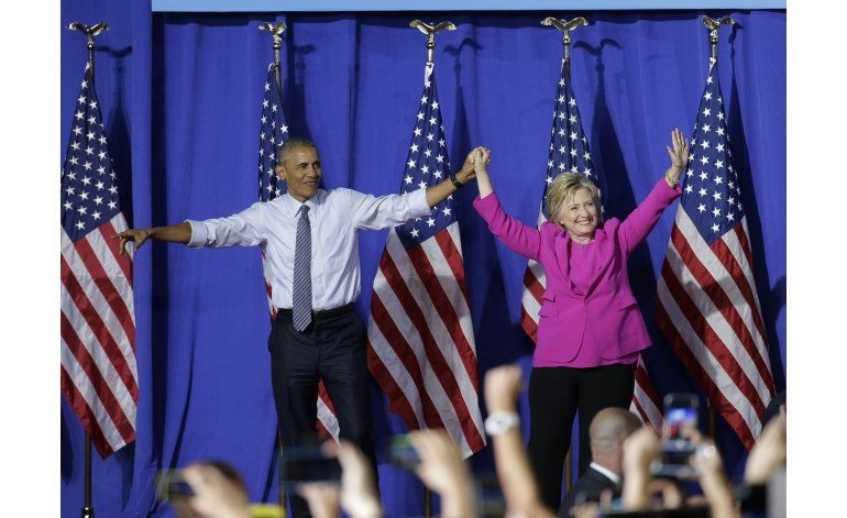 Obama se dice listos para entregar el relevo a Clinton