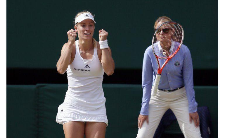 Serena enfrentará a Kerber en la final de Wimbledon