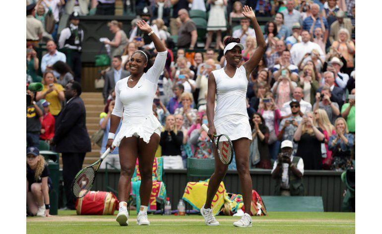 Serena y Venus ganan título de dobles en Wimbledon