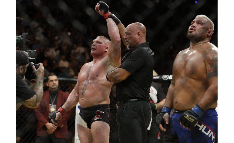 Lesnar vence a Hunt, Nunes a Tate por título de UFC 200