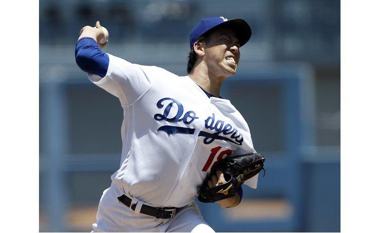 Maeda poncha a 13 y Dodgers domina a los Padres