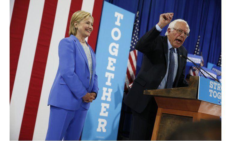 Sanders respalda a Clinton para presidente