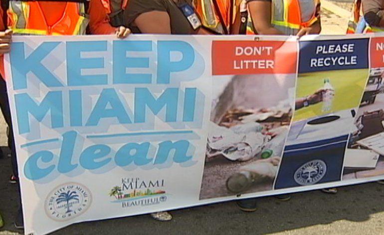 Ciudad de Miami lanzó la nueva fase de la campaña Mantén a Miami bella