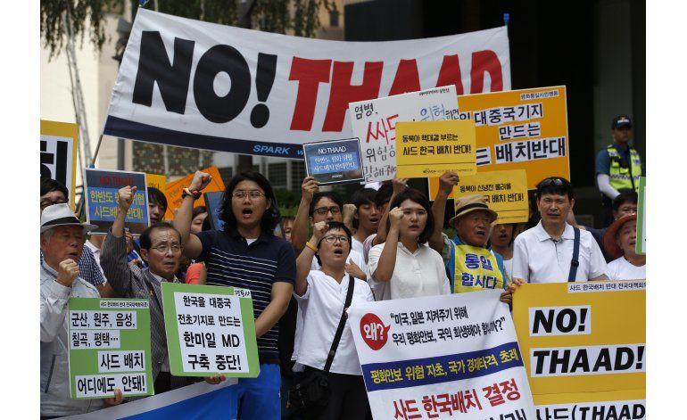 Corea del Sur anuncia ubicación de sistema de misiles EEUU