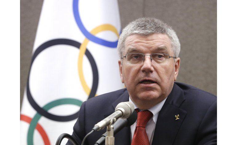 Bach: COI busca un balance en casos de atletas rusos