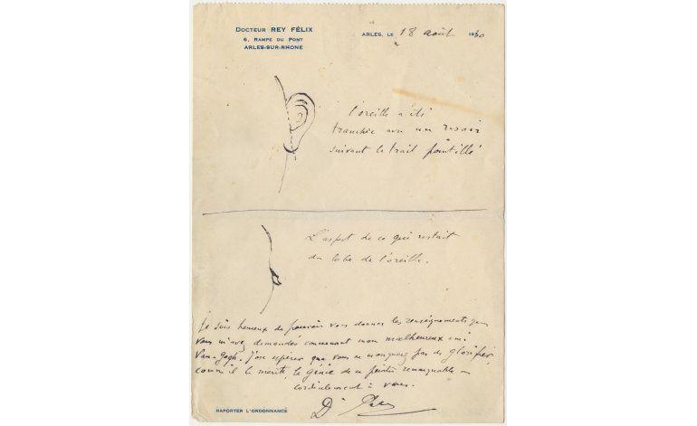 Boceto indica que Van Gogh se cortó casi toda la oreja