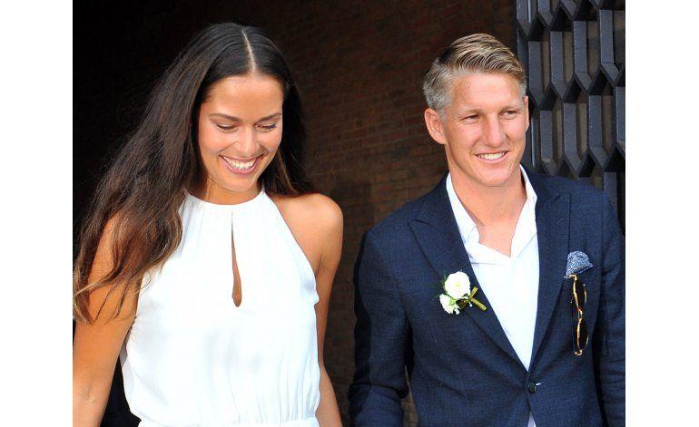 El futbolista alemán Schweinsteiger se casó con Ana Ivanovic