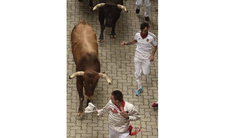Nueve heridos, sin cornadas en último encierro de San Fermín