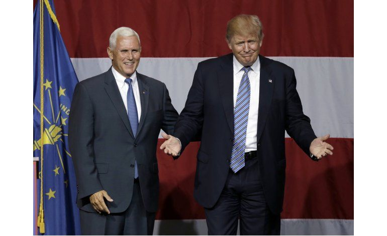 Trump y Pence no concuerdan en temas sociales y económicos