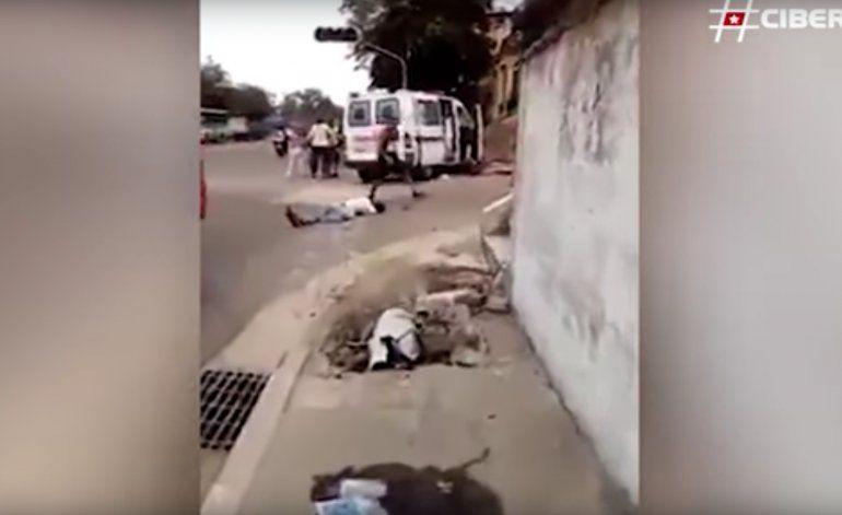 Una ambulancia provoca un fatal accidente en La Habana, Cuba (ADVERTENCIA FUERTES IMÁGENES)