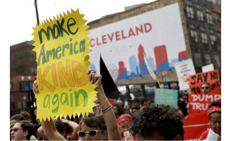 Marchas pacíficas en Cleveland ante convención republicana