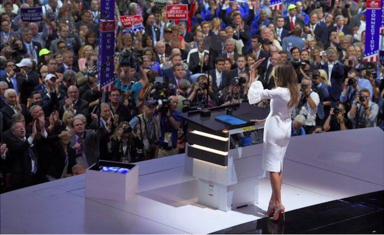 Equipo de Trump minimiza críticas por discurso de Melania