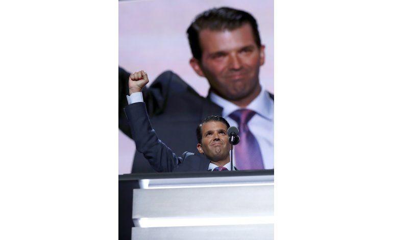 Escritor desvincula a hijo de Trump de plagio en su discurso