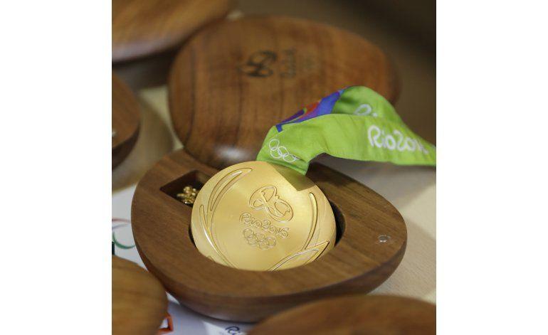 Las medallas de oro de Río casi no tienen oro