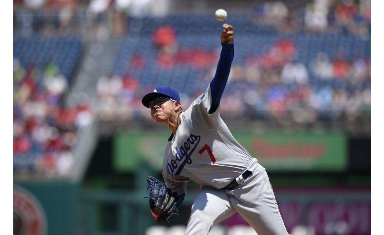 Dodgers propinan a Strasburg 1ra derrota de la campaña