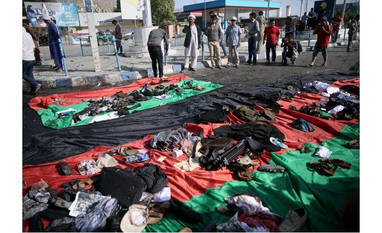Explosión mata a 80 personas durante marcha en Kabul