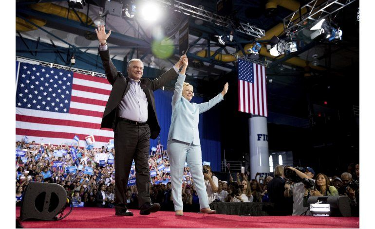 Clinton y Kaine debutan formula demócrata en Florida