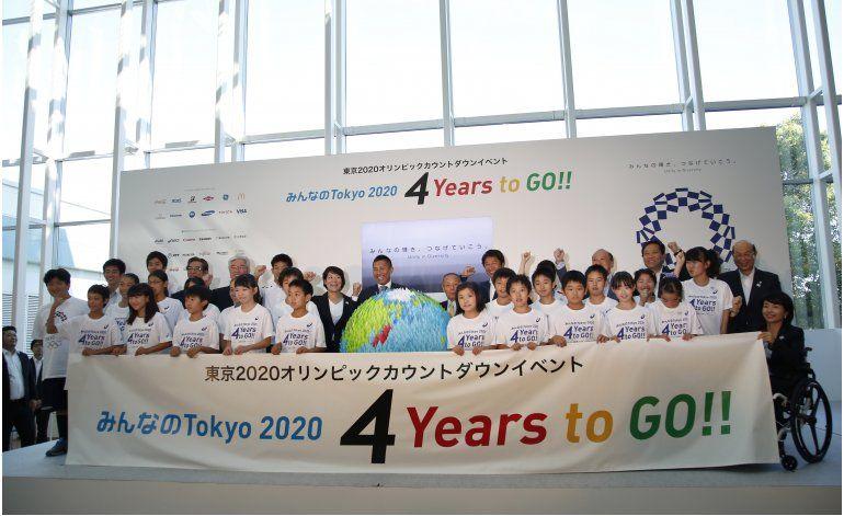 Ceremonia marca 4 años para inicio de Olimpiadas de Tokio