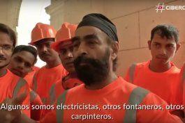 hablan los obreros indios contratados en la remodelacion de hotel en la habana