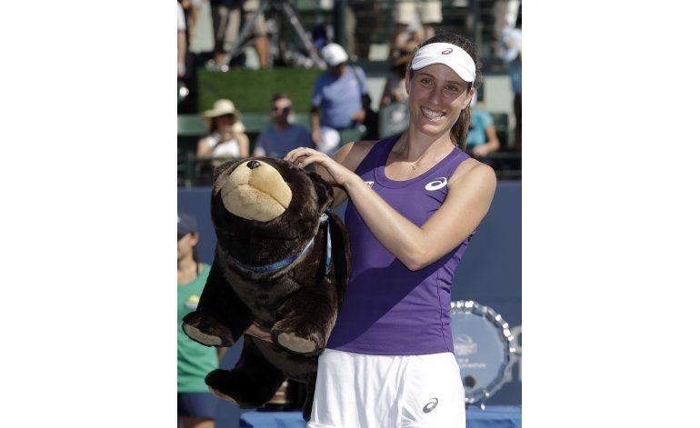 Konta doblega a Venus en la final de Stanford