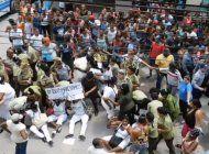 regimen  cubano desato otro domingo de golpizas y ataques contra damas de blanco
