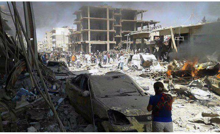 Suben a 44 los muertos en un ataque en el norte de Siria