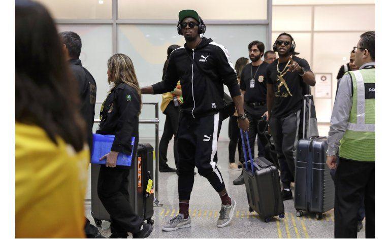 Usain Bolt aterriza en Río para los Juegos Olímpicos