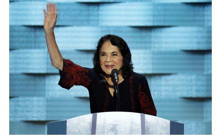 Dolores Huerta en la convención: ¡Ya basta con Donald Trump!