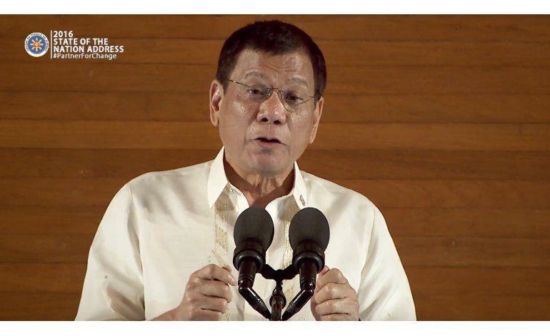 Presidente de Filipinas cancela el alto el fuego