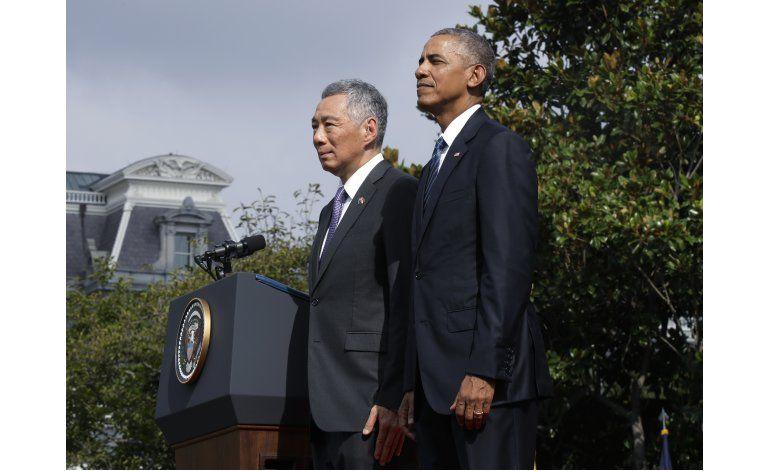 Obama y líder de Singapur defienden el acuerdo transpacífico