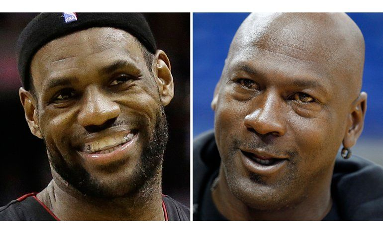 LeBron dice que le motiva fantasma de Jordan