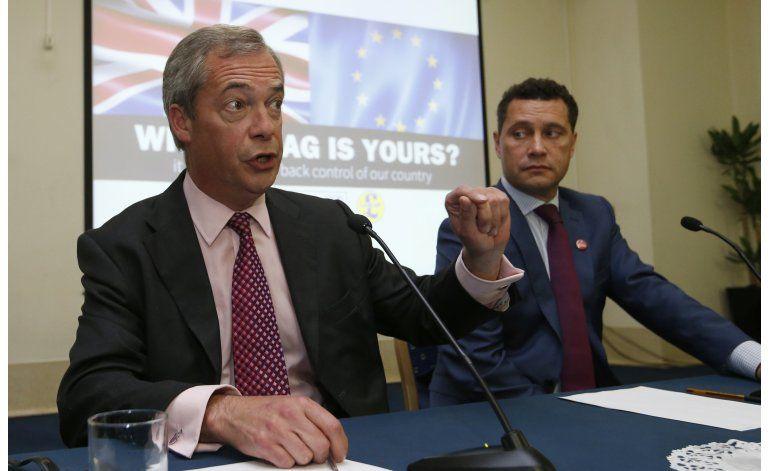 Excluyen a favorito para líder de partido británico UKIP