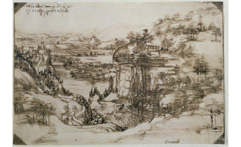 Dibujo más temprano de Leonardo se exhibirá en Vinci