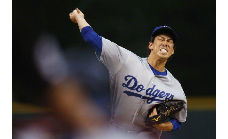 Maeda luce sólido y Dodgers evitan barrida de Rockies