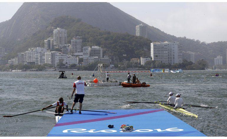 Vientos obligan a suspender pruebas de remo en Río