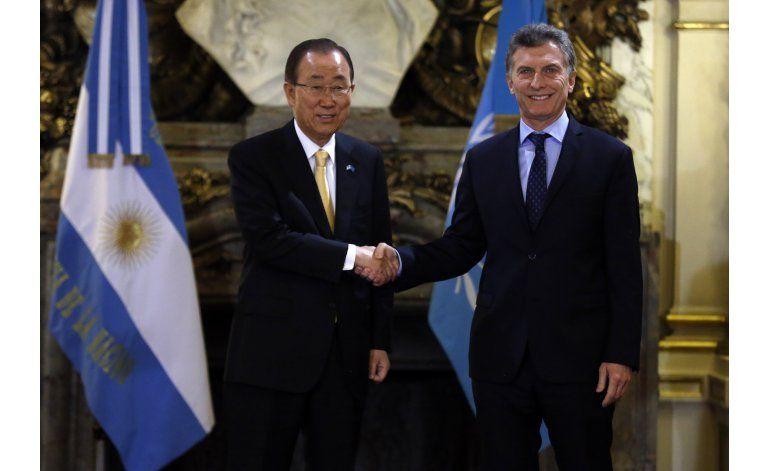 Ban Ki-moon quiere más argentinos en misión paz en Colombia