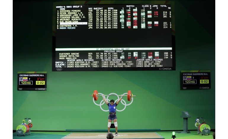 Ecuatoriana Escobar logra su mejor participación olímpica